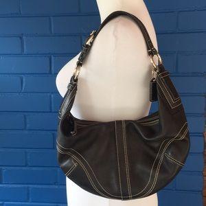 Coach black leather purse bag
